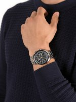 Zegarek srebrny sportowy Citizen Radio Controlled AT8020-54L bransoleta - duże 5