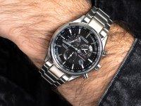 Zegarek srebrny sportowy Citizen Radio Controlled CB5020-87E bransoleta - duże 6