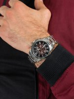 Zegarek srebrny sportowy Fossil Grant FS5628 bransoleta - duże 5