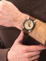 Zegarek srebrny sportowy Fossil Machine FS5620 pasek - duże 5