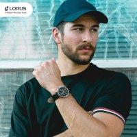 Zegarek srebrny sportowy Lorus Sportowe RM309GX9 pasek - duże 7