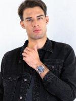 Zegarek srebrny sportowy Lorus Sportowe RM393EX9 pasek - duże 4