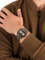 Zegarek srebrny sportowy Lorus Sportowe RT351GX9 bransoleta - duże 5