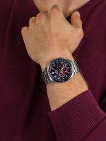 Zegarek srebrny sportowy Lorus Sportowe RT379HX9 bransoleta - duże 5