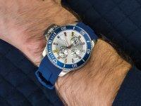 Zegarek srebrny sportowy Nautica Pasek NAPBYS002 pasek - duże 6