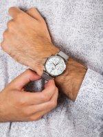 Zegarek srebrny sportowy Orient Classic RA-KV0402S10B bransoleta - duże 5