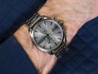 Zegarek szary fashion/modowy Diesel MS9 Chrono DZ4484 bransoleta - duże 6