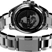 Timex TW2U72000 zegarek srebrny klasyczny Harborside bransoleta
