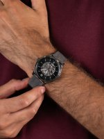 Zegarek szary klasyczny Fossil Neutra ME3185 bransoleta - duże 5