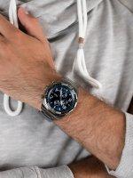 Zegarek szary sportowy Fossil Bronson FS5711 bransoleta - duże 5