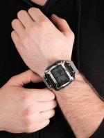 Zegarek szary sportowy Timex Command TW5M18300 pasek - duże 5