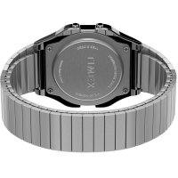 Timex TW2R79100 zegarek srebrny retro T80 bransoleta