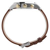 Timex TW2U04500 zegarek srebrny klasyczny Waterbury pasek