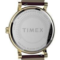 Timex TW2U19200 zegarek złoty klasyczny Full Bloom pasek