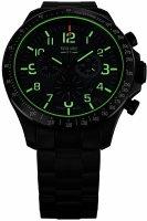 zegarek Traser TS-109464 kwarcowy męski P67 Officer Pro Chronograph P67 Officer Pro Chronograph Green Steel Bracelet