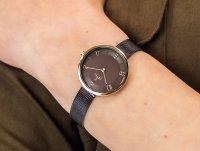 Zegarek V195LXVNMN Obaku Denmark Bransoleta VAND - WALNUT szkło mineralne - duże 6