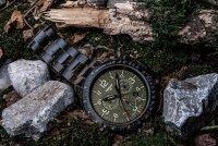 Traser TS-109464 P67 Officer Pro Chronograph Green Steel Bracelet zegarek wojskowy P67 Officer Pro