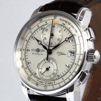 Zeppelin 8670-1 zegarek srebrny klasyczny 100 Years Zeppelin Ed 1 pasek