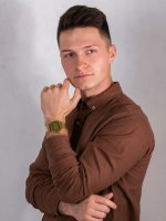 Zegarek złoty  VINTAGE Maxi A168WEGM-9EF MIRROR FACE - duże 4