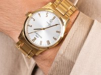 Zegarek złoty elegancki Bisset Klasyczne BSDD17GASX05BX bransoleta - duże 6