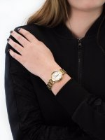 Zegarek złoty elegancki Festina Mademoiselle F20214-1 bransoleta - duże 5
