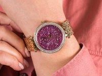 Zegarek złoty fashion/modowy Caravelle Bransoleta 44L212 bransoleta - duże 6
