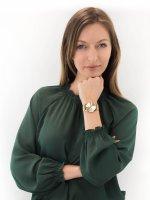 Zegarek złoty fashion/modowy Casio VINTAGE Instashape LTP-E140G-9AEF bransoleta - duże 4