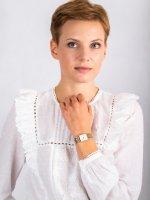 Zegarek złoty fashion/modowy Rosefield Boxy QMWSG-Q021 bransoleta - duże 4