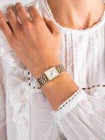Zegarek złoty fashion/modowy Rosefield Boxy QMWSSG-Q023 bransoleta - duże 5