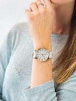 Zegarek złoty fashion/modowy Timex Transcend TW2T35400 pasek - duże 5