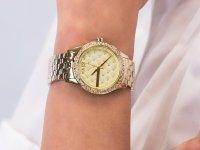 Zegarek złoty klasyczny Armani Exchange Fashion AX5216 bransoleta - duże 6