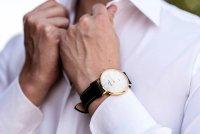 Zegarek złoty klasyczny Bisset Klasyczne BSCE75GISX03BX pasek - duże 7
