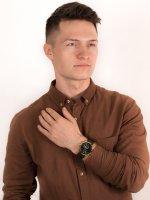 Zegarek złoty klasyczny Fossil Townsman FS5599 pasek - duże 4