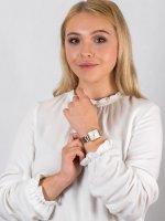 Zegarek złoty klasyczny Rosefield Boxy QWSSG-Q043 bransoleta - duże 4