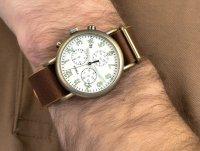 Zegarek złoty klasyczny Timex Weekender TW2P85300 pasek - duże 6