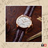 Zegarek złoty klasyczny Tissot Le Locle T006.407.36.263.00 pasek - duże 7