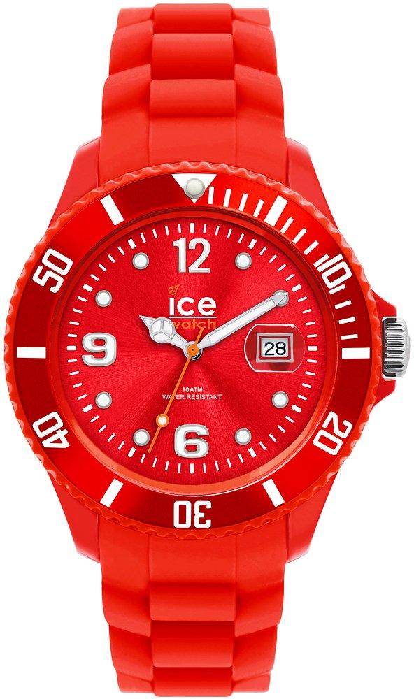 Sportowy, męski zegarek ICE Watch SI.RD.S.S.09 Ice-Forever Red na kopercie z paskiem wykonanych z tworzywa sztucznego w czerwonym kolorze. Analogowa tarcza jest w czerwonym kolorze z białymi indeksami.