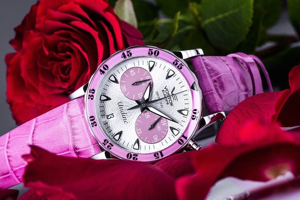 Zegarek Vostok Undine różowy VK64-515A525