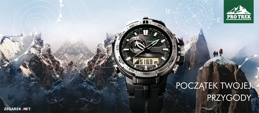 Outdoorwe zegarki ProTrek to profesjonalny sprzęt górski