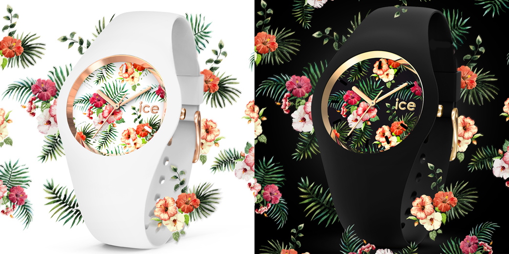 Niezwykle atrakcyjne, damskie zegarki ICE Watch Ice Flower w dwóch wariantach - w kolorze czarnym oraz białym.