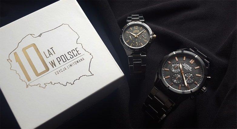 97a74a7c9d52e Limitowane zegarki Lorus edycja specjalna na 10 urodziny w naszym kraju.