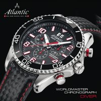 Zegarek męski Atlantic worldmaster 55470.47.65RC - duże 2