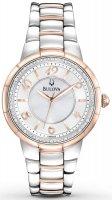 Zegarek damski Bulova diamond 98R162 - duże 1