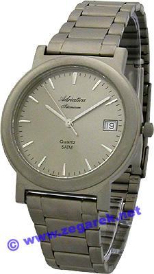 Zegarek męski Adriatica tytanowe A1017.4117 - duże 1