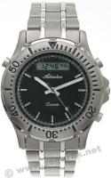 Zegarek męski Adriatica tytanowe A1056.4114 - duże 1
