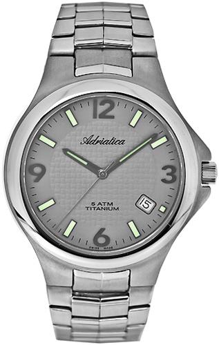 Zegarek męski Adriatica tytanowe A1068.4157Q - duże 1