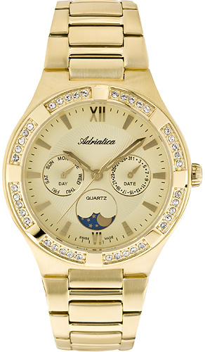 Zegarek damski Adriatica bransoleta A3421.1161QFZ - duże 1