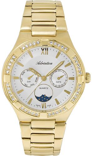 Zegarek damski Adriatica bransoleta A3421.1163QFZ - duże 1