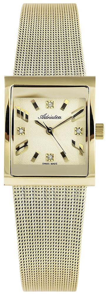 Zegarek damski Adriatica bransoleta A3458.1151Q - duże 3