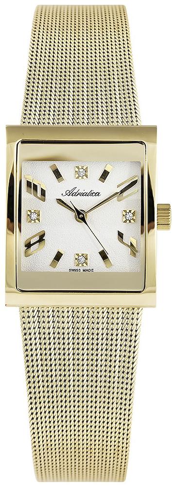 Zegarek damski Adriatica bransoleta A3458.1153Q - duże 3